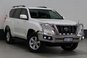 2013 Toyota Landcruiser Prado KDJ150R MY14 GXL (4x4) White 5 Speed Sequential Auto Wagon Bentley Canning Area Preview