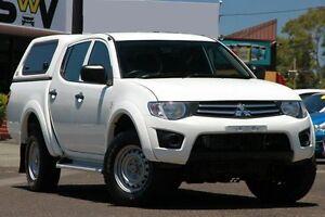 2013 Mitsubishi Triton MN MY13 GLX Double Cab White 4 Speed Sports Automatic Utility Woodridge Logan Area Preview