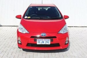 2013 Toyota Prius c NHP10R E-CVT Red 1 Speed Constant Variable Hatchback Hybrid Embleton Bayswater Area Preview