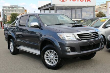 2014 Toyota Hilux KUN26R MY14 SR5 Double Cab Charcoal Grey 5 Speed Automatic Utility Northbridge Perth City Preview