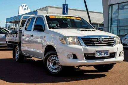 2012 Toyota Hilux KUN16R MY12 SR Double Cab 4x2 Glacier White 5 Speed Manual Utility Wangara Wanneroo Area Preview