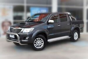 2015 Toyota Hilux KUN26R MY14 SR5 Double Cab Grey 5 Speed Automatic Utility Berwick Casey Area Preview