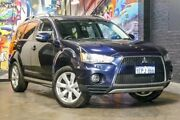 2012 Mitsubishi Outlander ZH MY12 XLS Blue 6 Speed Constant Variable Wagon Perth Perth City Area Preview