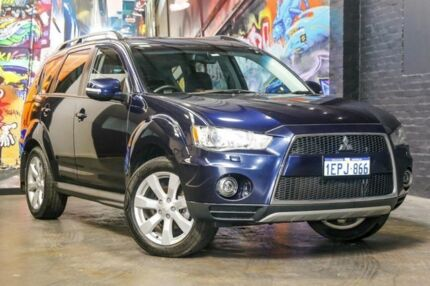 2012 Mitsubishi Outlander ZH MY12 XLS Blue 6 Speed Constant Variable Wagon