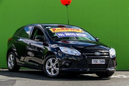 2012 Ford Focus LW MKII Trend PwrShift Black 6 Speed Sports Automatic Dual Clutch Hatchback Ringwood East Maroondah Area Preview