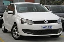 2012 Volkswagen Polo 6R MY12.5 77TSI DSG Comfortline White 7 Speed Sports Automatic Dual Clutch Hatc North Melbourne Melbourne City Preview