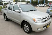 2007 Toyota Hilux GGN25R 07 Upgrade SR5 (4x4) Silver 5 Speed Manual Utility Argenton Lake Macquarie Area Preview