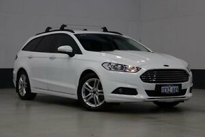 2015 Ford Mondeo MD Ambiente Tdci White 6 Speed Automatic Wagon Bentley Canning Area Preview