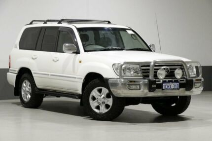2005 Toyota Landcruiser UZJ100R Upgrade Sahara (4x4) White 5 Speed Automatic Wagon Bentley Canning Area Preview