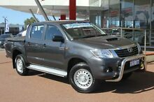 2015 Toyota Hilux KUN26R MY14 SR (4x4) Graphite 5 Speed Automatic Dual Cab Pick-up Myaree Melville Area Preview
