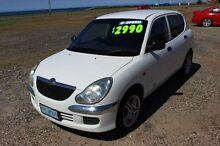 2003 Daihatsu Sirion M101RS GTVi White 5 Speed Manual Hatchback Burnie Burnie Area Preview
