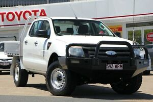 2012 Ford Ranger PX XL Clear White 6 Speed Manual Cab Chassis Woolloongabba Brisbane South West Preview