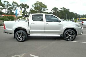 2012 Toyota Hilux KUN26R MY12 SR5 Double Cab Sterling Silver 5 Speed Manual Utility