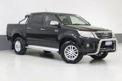 2011 Toyota Hilux GGN25R MY12 SR5 (4x4) Black 5 Speed Automatic Dual Cab Pick-up St James Victoria Park Area Preview