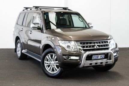2015 Mitsubishi Pajero NX MY15 GLS LWB (4x4) Brown 5 Speed Auto Sports Mode Wagon Myaree Melville Area Preview