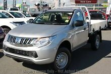 2015 Mitsubishi Triton MQ MY16 GLX Sterling Silver 6 Speed Manual Cab Chassis Yeerongpilly Brisbane South West Preview