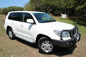 2013 Toyota Landcruiser VDJ200R MY13 GXL Glacier White 6 Speed Automatic Wagon The Gardens Darwin City Preview