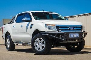 2014 Ford Ranger PX XLT Double Cab White 6 Speed Sports Automatic Utility Pearsall Wanneroo Area Preview