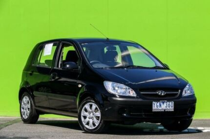 2010 Hyundai Getz TB MY09 S Black 4 Speed Automatic Hatchback Ringwood East Maroondah Area Preview
