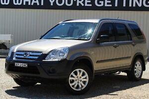 2006 Honda CR-V 2005 Upgrade (4x4) Gold 5 Speed Automatic Wagon Windradyne Bathurst City Preview