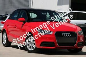 2012 Audi A1 8X MY13 Attraction Sportback S Tronic Silver 7 Speed Sports Automatic Dual Clutch Wynnum Brisbane South East Preview