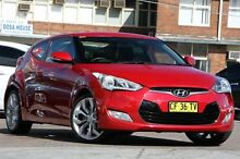 2012 Hyundai Veloster FS Red 6 Speed Auto Dual Clutch Coupe Waitara Hornsby Area Preview