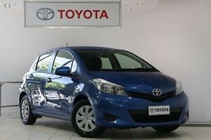 2014 Toyota Yaris NCP130R YR Caribbean Blue 4 Speed Automatic Hatchback Waterloo Inner Sydney Preview