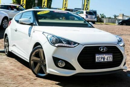 2014 Hyundai Veloster FS3 SR Coupe Turbo Crystal White 6 Speed Manual Hatchback Embleton Bayswater Area Preview