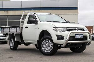 2014 Mitsubishi Triton MN MY15 GLX White 4 Speed Sports Automatic Cab Chassis Morley Bayswater Area Preview