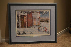 """Laura Berry """"Winter Traditions"""" Framed Limited Edition Print"""