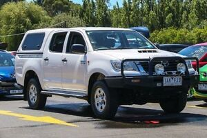 2013 Toyota Hilux KUN26R MY12 SR Double Cab White 4 Speed Automatic Utility Ringwood East Maroondah Area Preview