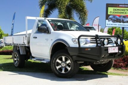 2009 Mitsubishi Triton MN MY10 GLX White 5 Speed Manual Cab Chassis