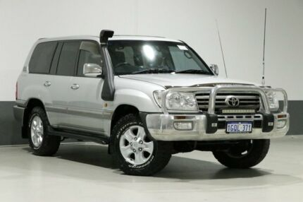 2005 Toyota Landcruiser HDJ100R Upgrade Sahara (4x4) Silver 5 Speed Automatic Wagon Bentley Canning Area Preview