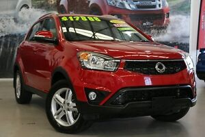 2016 Ssangyong Korando C200 MY15 SX 2WD Flaming Red 6 Speed Automatic Wagon Rockingham Rockingham Area Preview
