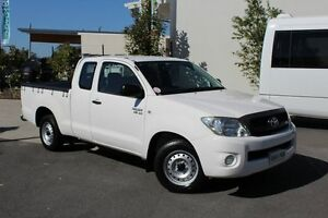 2009 Toyota Hilux GGN15R MY09 SR Xtra Cab White 5 Speed Automatic Utility Robina Gold Coast South Preview