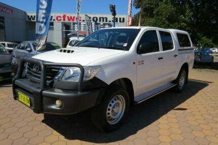 2014 Toyota Hilux KUN26R MY14 SR (4x4) White 5 Speed Manual Dual Cab Pick-up Greenway Tuggeranong Preview