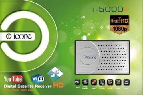 Full HD IPTV Icone i-5000+ DVB Iptv HDMI wifi optique 3G USB PVR JPEG MP4