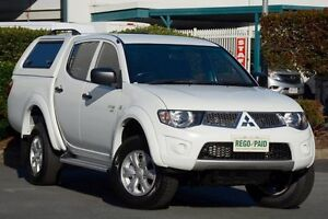 2011 Mitsubishi Triton MN MY12 GL-R Double Cab White 4 Speed Automatic Utility Acacia Ridge Brisbane South West Preview