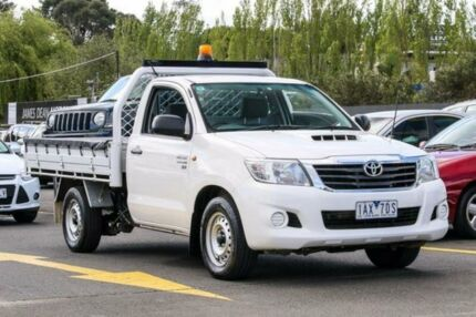 2013 Toyota Hilux KUN16R MY14 SR White 5 Speed Manual Cab Chassis