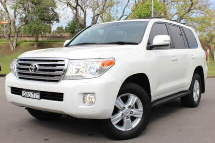 2015 Toyota Landcruiser VDJ200R MY13 VX White 6 Speed Sports Automatic Wagon Taylors Beach Port Stephens Area Preview