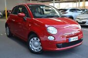 2013 Fiat 500 Series 1 Pop Dualogic Red 5 Speed Sports Automatic Single Clutch Hatchback Hoppers Crossing Wyndham Area Preview