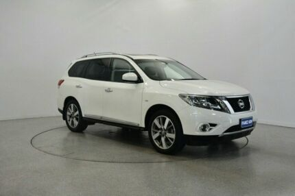 2015 Nissan Pathfinder R52 MY15 Ti X-tronic 4WD White 1 Speed Constant Variable Wagon Victoria Park Victoria Park Area Preview