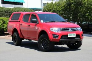 2011 Mitsubishi Triton MN MY11 GLX Double Cab Red 4 Speed Automatic Utility Acacia Ridge Brisbane South West Preview
