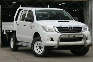 2012 Toyota Hilux KUN26R MY12 SR (4x4) White 5 Speed Manual Dual Cab Chassis Mosman Mosman Area Preview