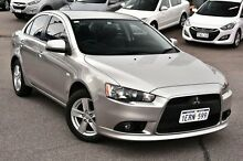 2014 Mitsubishi Lancer CJ MY14.5 LX Silver 6 Speed Constant Variable Sedan Myaree Melville Area Preview