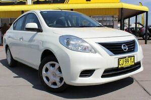 2012 Nissan Almera N17 ST White 5 Speed Manual Sedan Telarah Maitland Area Preview