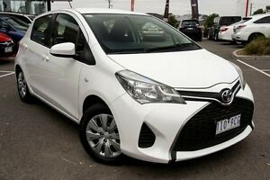 2015 Toyota Yaris NCP130R Ascent White 4 Speed Automatic Hatchback Mill Park Whittlesea Area Preview