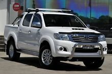 2013 Toyota Hilux KUN26R MY12 SR5 (4x4) White 4 Speed Automatic Dual Cab Pick-up Old Guildford Fairfield Area Preview