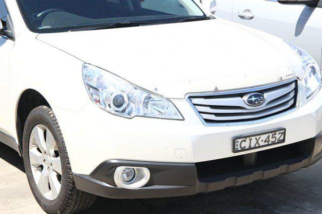 2012 Subaru Outback B5a My12 25i Lineartronic Awd White 6 Speed