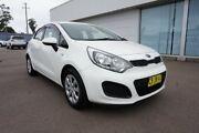 2014 Kia Rio UB MY14 S White 4 Speed Sports Automatic Hatchback Cardiff Lake Macquarie Area Preview